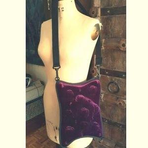 Anemone punk purple velvet 4 way wear bag purse